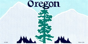 Oregon Blank License Plate