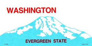 Washington Blank License Plate