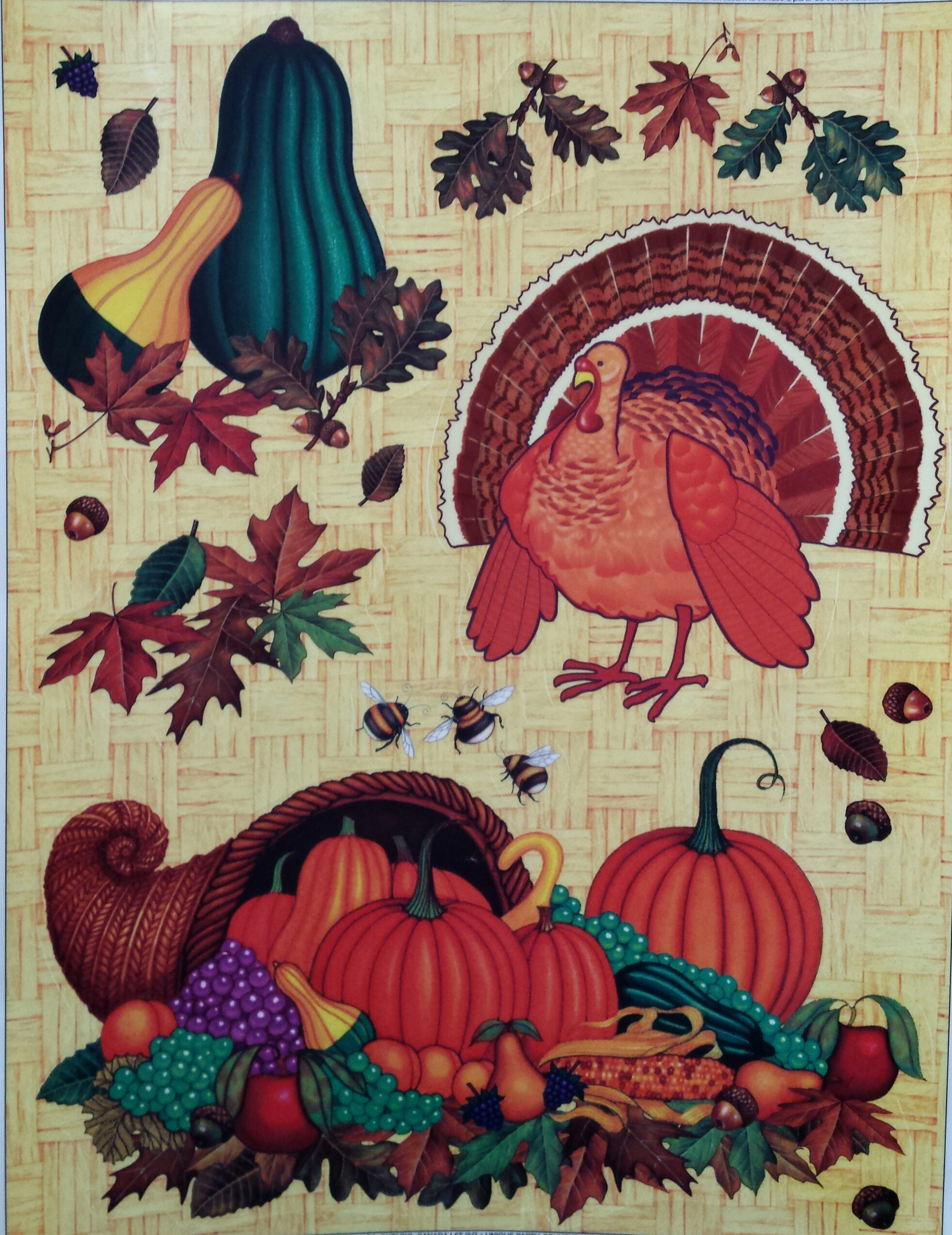 Thanksgiving/Fall Window Cling
