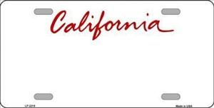 California Blank License Plate