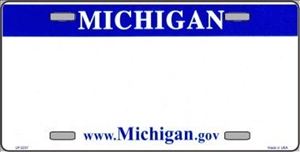 Michigan Blank License Plate