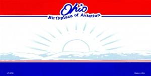 Ohio Blank License Plate
