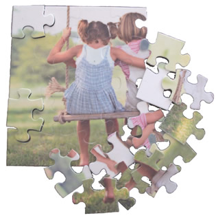 Transfer paper for puzzles